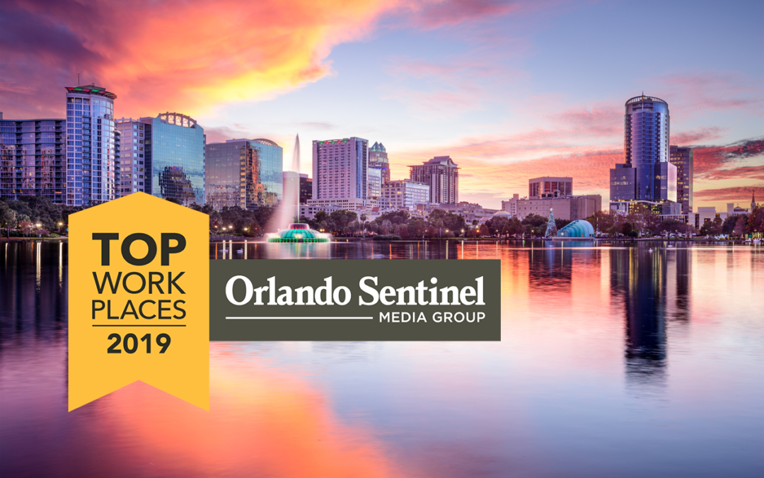 WBD named a winner of the Orlando Top Workplaces 2019 award